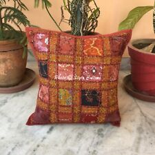 "Indian 16"" Cotton Cushion Cover Handmade Throw Patchwork Pillow Case Cover"