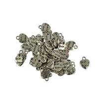 50pcs Tibetan Silver Best Friend Love Heart Charms Pendants Jewelry Making