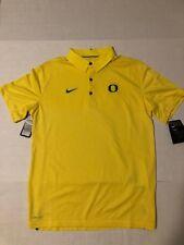 Nike Oregon Ducks Yellow Elite Team Polo Shirt Mens Size L 2017 $85.00