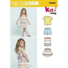 NEW LOOK SEWING PATTERN CHILD'S EASY TOP SKIRT & SHORTS SIZES 3 - 8 6465