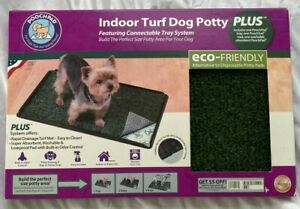 """PoochPad Indoor Fake Grass Turf Dog Potty Plus * Dogs up to 20 lbs 24"""" L X 16"""" W"""
