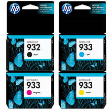 HP Genuine 932 (B) + 933 (C, M, Y) Set of 4 Ink Cartridge