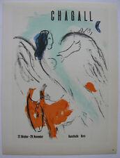 Marc Chagall Plakat Kunsthalle Bern Orig Lithografie 1959 Maitres de l'Ecole
