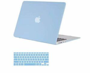 "Plastic Hard Shell Case & Keyboard Cover Skin Fits Macbook 12"", Airy Blue, *FLAW"