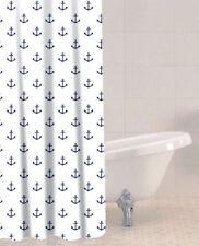 Plastic Nautical Shower Curtains