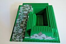 LEGO Green Baseplate, Raised 32 x 32 with Ramp and Pit, Rocks