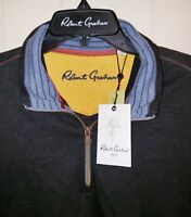 Robert Graham Quarter Zip Pullover Mens XL NWT $148.00 Dark Charcoal