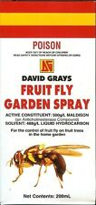 Fruit Fly Garden Spray 200mL David Grays Aphid Scale Moth Flies Pest Malathion