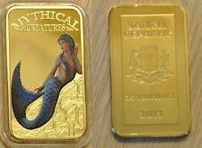 Somalia 2013 Goldplated Color Rectangular 25 shilling-Mystical Creatures-Mermaid