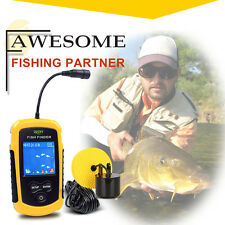 Underwater Fishing 100M Fish Finder Sonar Alarm Sensor Transducer LCD Backlight