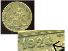 50 centimes chambre de commerce 1924 ( VARIETE  le 4 bouchée  )