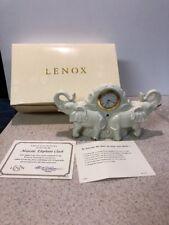 Lenox China Treasury Collection Majestic Elephants Jeweled Clock Porcelain