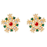 1X(Snowflake Stud Earrings Ear Studs for Women Christmas Party Jewellery Gi 5I1)