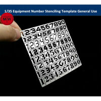 1/35 Equipment Number Stenciling Template General Use Model Building Tool AJ0025