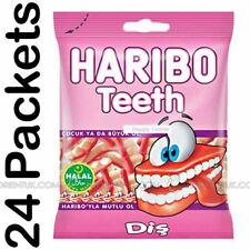 24x Haribo Teeth Halal Sweets 80g Box of 24 Discount if You Buy More Than One