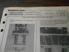Honda Hondaline Installation Instructions Front/Rear Basket 1979-1981 NA50 07525