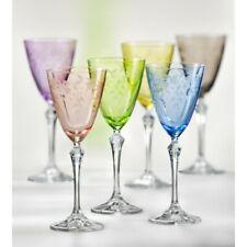 Bohemia Floral Weingläser Kristallglas Weinglas 250 ml mehrfarbig Gravur 6er Set