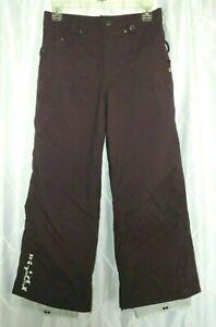 Burton Girls Snowboard Pants Snow Ski Insulated Adj Waist Size L 10-12 Purple