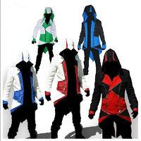 Assassins Creed 3 Connor Kenway Costumes Hoodie Men Zip Jacket Coat Cosplay Tops