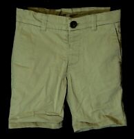 Boys M&S Stone Beige Adjustable Waist Smart Chino Cotton Shorts Age 3-4 Years