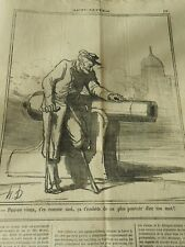 HD 3418 DAUMIER 1870 Pauvre old t'es as moi, it You emBeast of not plus power