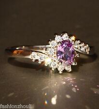 Hot 925 Silver Filled Purple Sapphire Gemstone Size7 Birthstone Wedding Ring 596