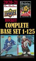 2021 UPPERDECK TIM HORTONS HOCKEY 🍁🏒 COMPLETE BASE SET 1 - 125 🏒🍁