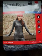 New in Pack Climate Right Cuddl Duds Stretch  Moisture Wick Top