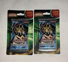 Yugioh! 2 Sealed DARK CRISIS Blister Booster Packs BONUS Cards