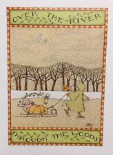 Vintage Mary Engelbreit Over The River Through Clip Art Repurpose Calendar Page