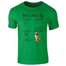 How To Draw a Dog Puppy Funny T-shirt- Mens, Womens, Kids Sizes