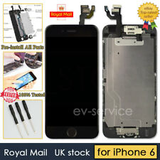 Black Screen For iPhone 6 Replacement Digitizer LCD Touch Camera Home Button UK