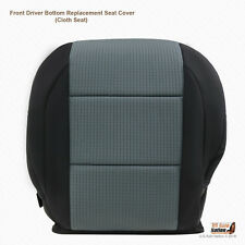 Front Driver Bottom Black/Gray Cloth Seat Cover Fits 2005 - 2007 Nissan Titan