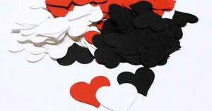 100 Pc. Romantic Paper Heart Cake Confetti  Wedding Table Sprinkles
