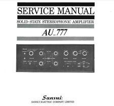 SANSUI AU-777 sol ST stéréophonique service Amp Manuel Inc SCHEM diag Imprimé ENG