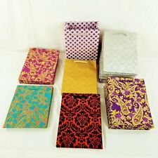 """Lot Of 41 Vivid Handmade Gift Bags Silver, Gold Size 9.5"""" x 7.25"""""""
