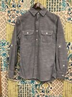 Sonoma Shirt Button Up Long Sleeve Men's Size Small Light Gray