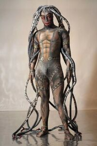 Men Women Medusa Siamese Halloween Snake Costume Cosplay Jumpsuit Adult Bodysuit