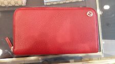 PURSE WALLET GUCCI WOMEN'S GIFT IDEA AUTHENTIC 100% CREDIT CARD DOLLAR RED