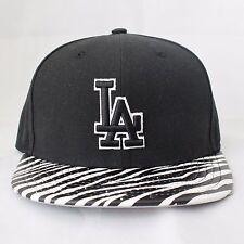 Los Angeles Dodgers New Era Strapback, Zebra Ostrich Viser