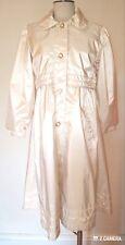 F W Fischer Vintage Cream Girls Raincoat Size Xl
