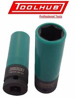 "Tool Hub 1005 Alloy Wheel Nut Impact Socket 19mm Thin Wall 1/2"" Sq Drive"
