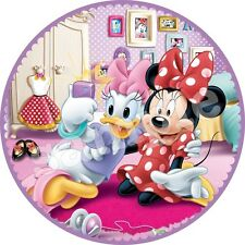 Minnie Mickey Decoration Gateau Disque Azyme Comestible Anniversaire