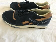 Mens Reebok GL 6000 Blue & Brown Size 10 1/2 Suede & Leather
