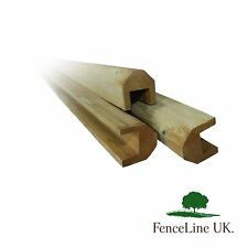 2.4m - Pressure Treated - Wooden - Rebated - Fence Capping Rail- Feather edge