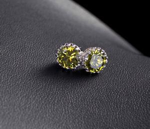 925 Silver Cutie Crown Ruby Citrine Sapphire Colorful Zircon Women Earrings Stud