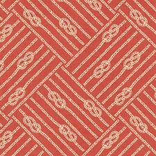 DRIFT AWAY RED NAUTICAL KNOTS FABRIC