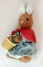 15'' Vintage Beatrix Potter Eden Toys Plush Cottontail Rabbit w/ Easter Basket