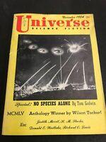 Universe Science Fiction November 1954 No Species Alone Pulp Magazine