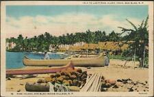 Pine Island, San Blas (Guna Yala) Indian Village - postcard, stamp 1940